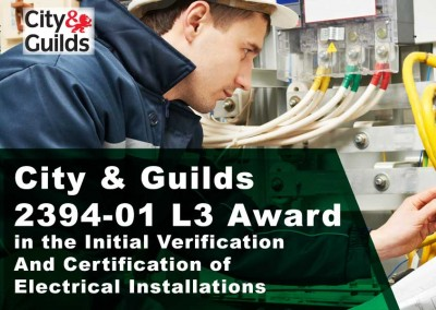 City and Guilds 2394-01 L3 Award in the Initial Verification And Certification of Electrical Installations