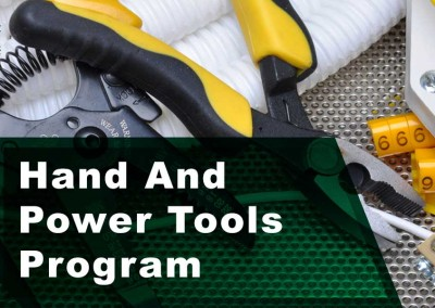 Hand And Power Tools Program