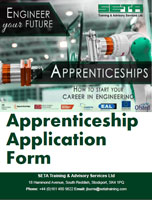 SETA Stockport Apprenticeship Application Form - To download the form, please click on the image