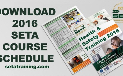 New 2016 Course Schedule announced!