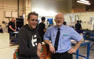Richard Cross,  Armcon Apprentice Wins Fitting Section Prize at SETA