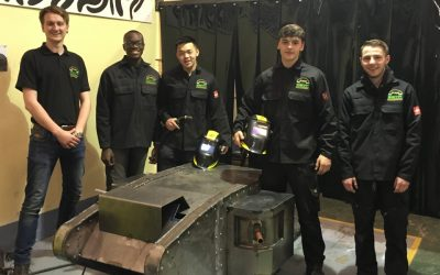 SETA Apprentices Have Built the 10 foot Replica of The World War I Tank