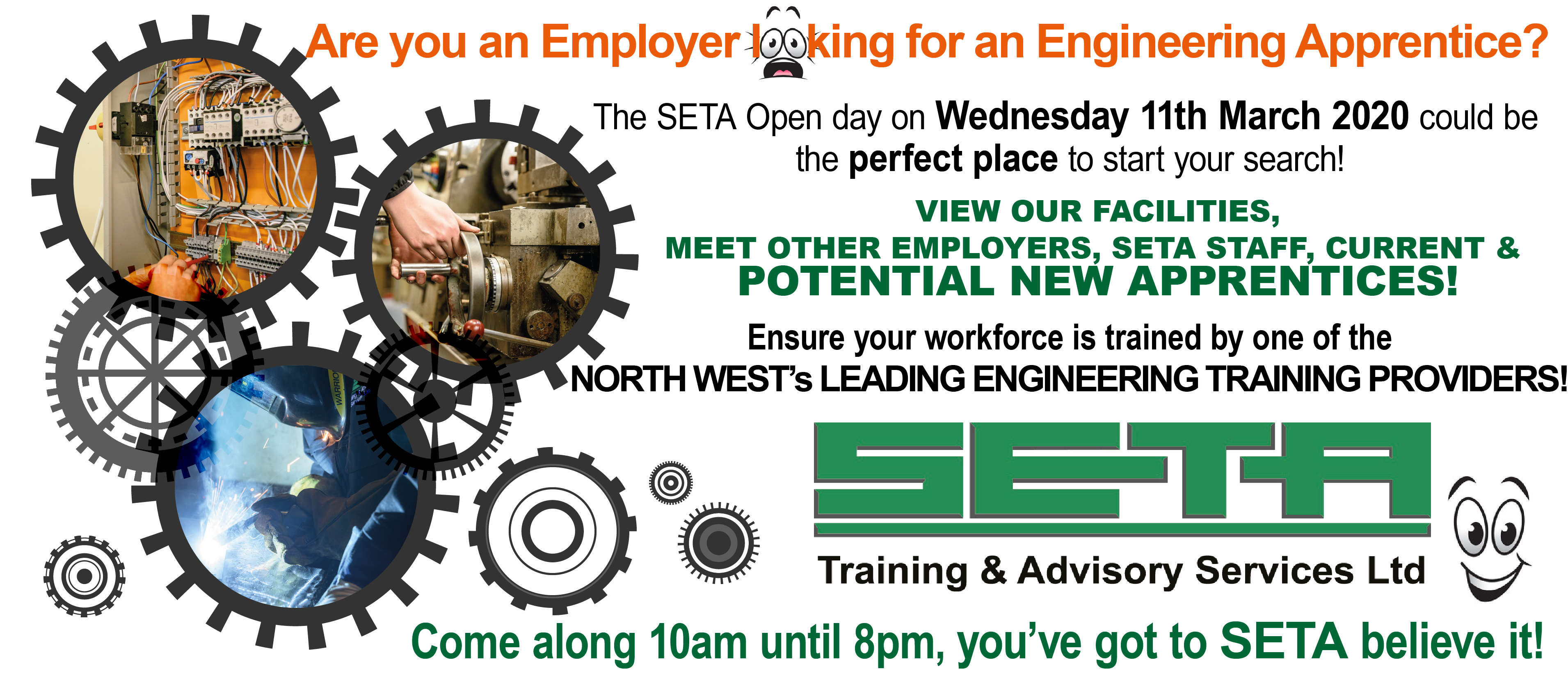 Engineering Employers… Start your Apprentice recruitment with SETA!